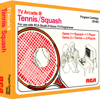 Tennis/Squash, video games for the RCA Studio II video game console