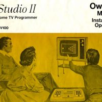 Cover of manual for RCA Studio II, a home video game console by RCA