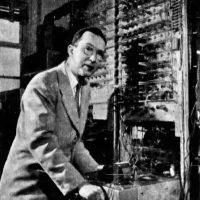 Scientist William Higinbotham at Brookhaven National Labs, 1958
