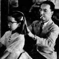 William Higinbotham, inventor of the original video game, at home with daughter Robin
