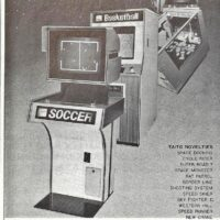 PONG video arcade game clones by Taito, 1974