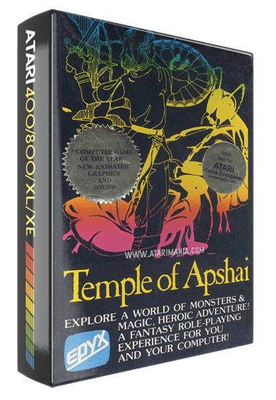 Temple of Apshai, a computer role playing game for Atari 8-bit computers