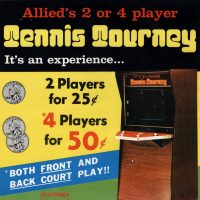 Tennis Tourney, a PONG arcade video game clone