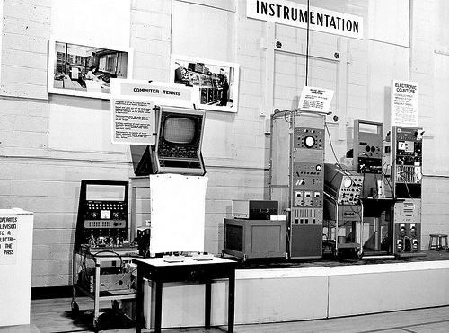 """Image of 2nd year """"Visitor's Day"""" T4T display, BNL 1959"""