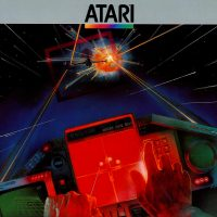 Box artwork for Star Raiders, a home video game for the 2600 video game console by Atari