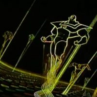 Concept art for Tron, a video game movie by Disney