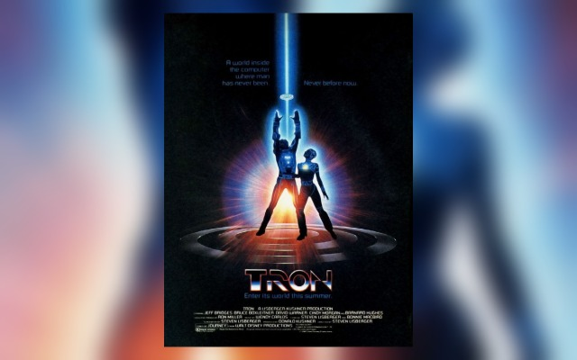 Poster for Tron, a video game themed movie by Disney