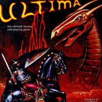 Ad for Ultima, a computer video game by Lord British, aka Richard Garriott