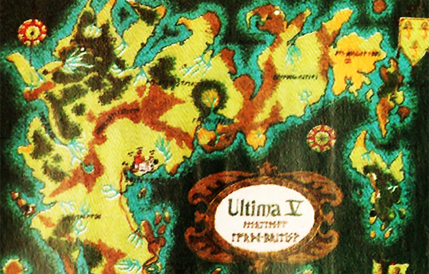 Map for Ultima V, a computer game by Richard Garriott/Lord British
