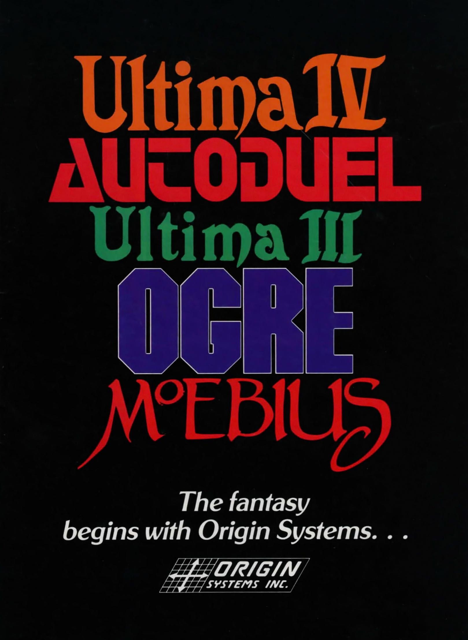 Game such as the Ultima series, computer games by Origin