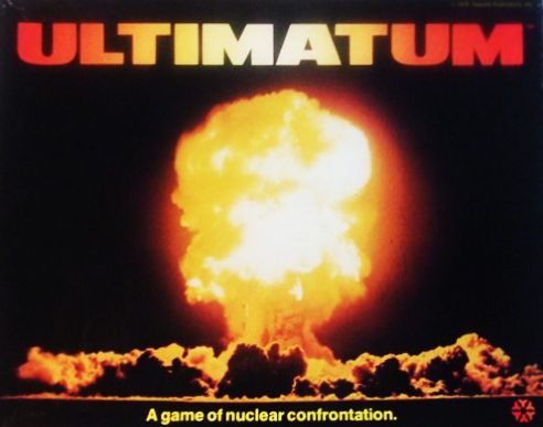 Box cover of Ultimatum, a board game by Yaquinto 1979
