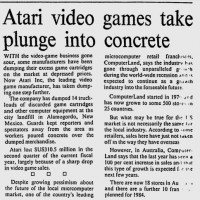 Newspaper article on the E.T. cartridge dump