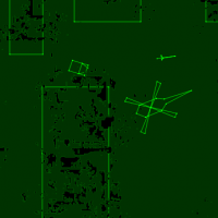 Image of Armor Attack gameplay, a home video game for the Vectrex by GCE 1982