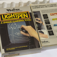 Light Pen, a drawing peripheral for the Vectrex, a home video game by GCE/Milton Bradley 1983.