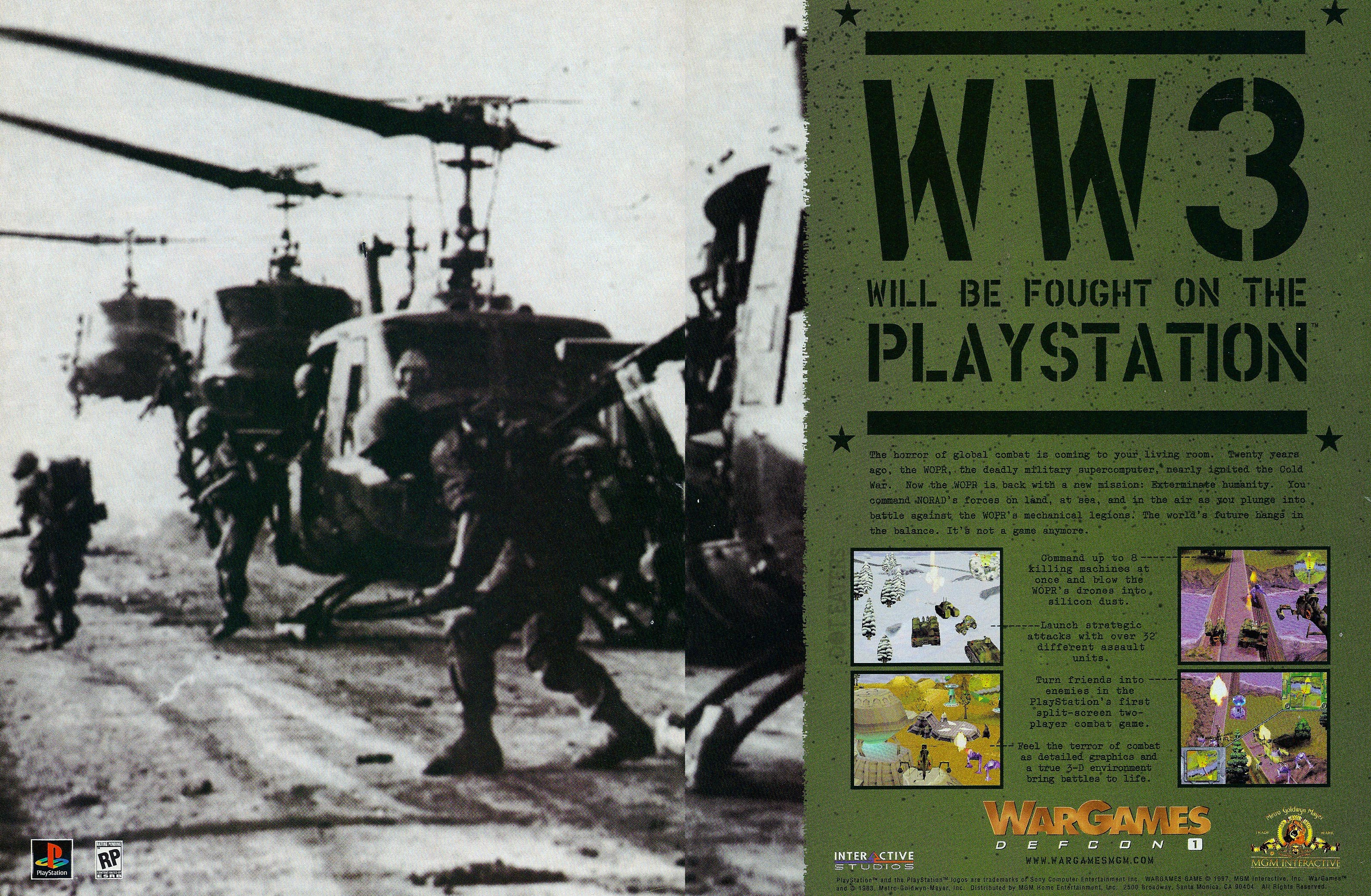Ad for WarGames: Defcon 1, a Playstation video game by MGM Interactive