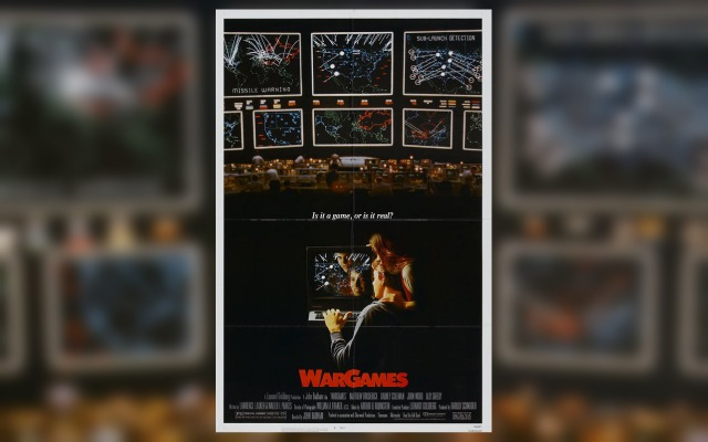 Poster for the WarGames video game themed movie