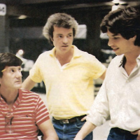 1982 image of John Badham, Lawrence Lasker and Walter Parkes, creative team behind video game themed film WarGames