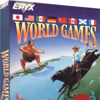 World Games, a sports video game for DOS computers, by Epyx