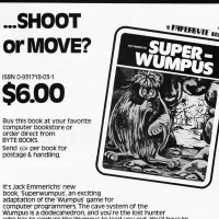 1979 ad for Superwumpus, a book of programming code by Jack Emmerichs
