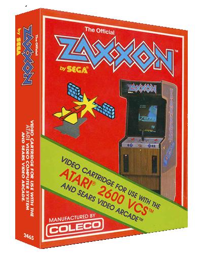 Zaxxon, a home video game for the Atari 2600 video game console