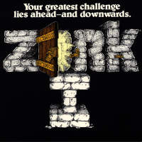 Box art for Zork I, a computer text adventure game for the Atari ST by Infocom 1985