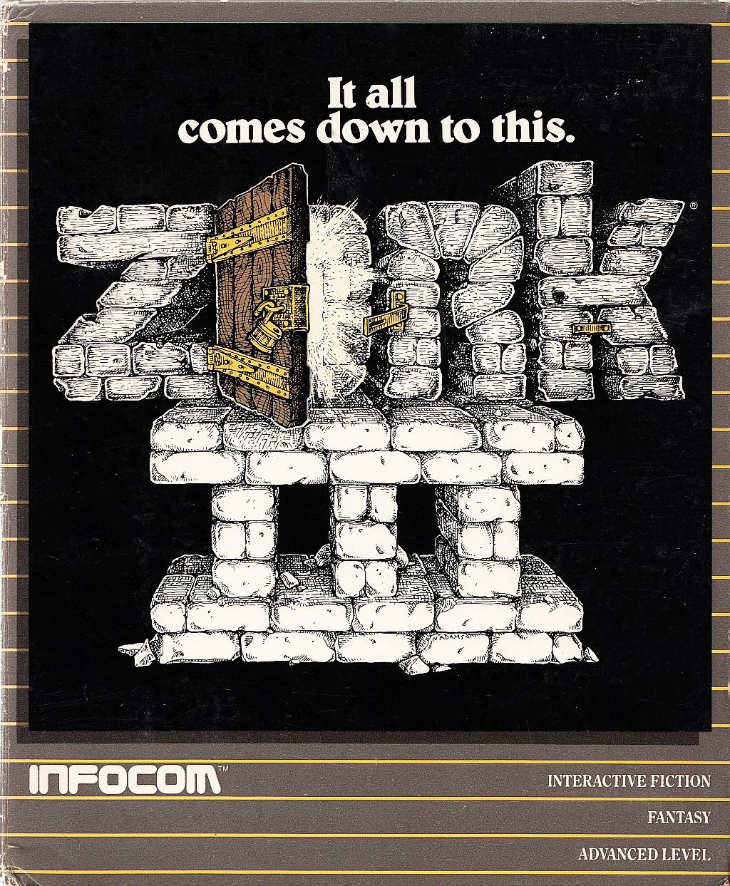 Zork III, a computer text adventure game by Infocom