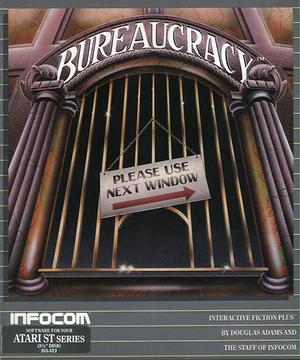 Cover for Atari ST version of Bureaucracy, a computer text adventure game by Infocom 1987