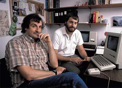 Douglas Adams and Steve Meretsky, circa 1984