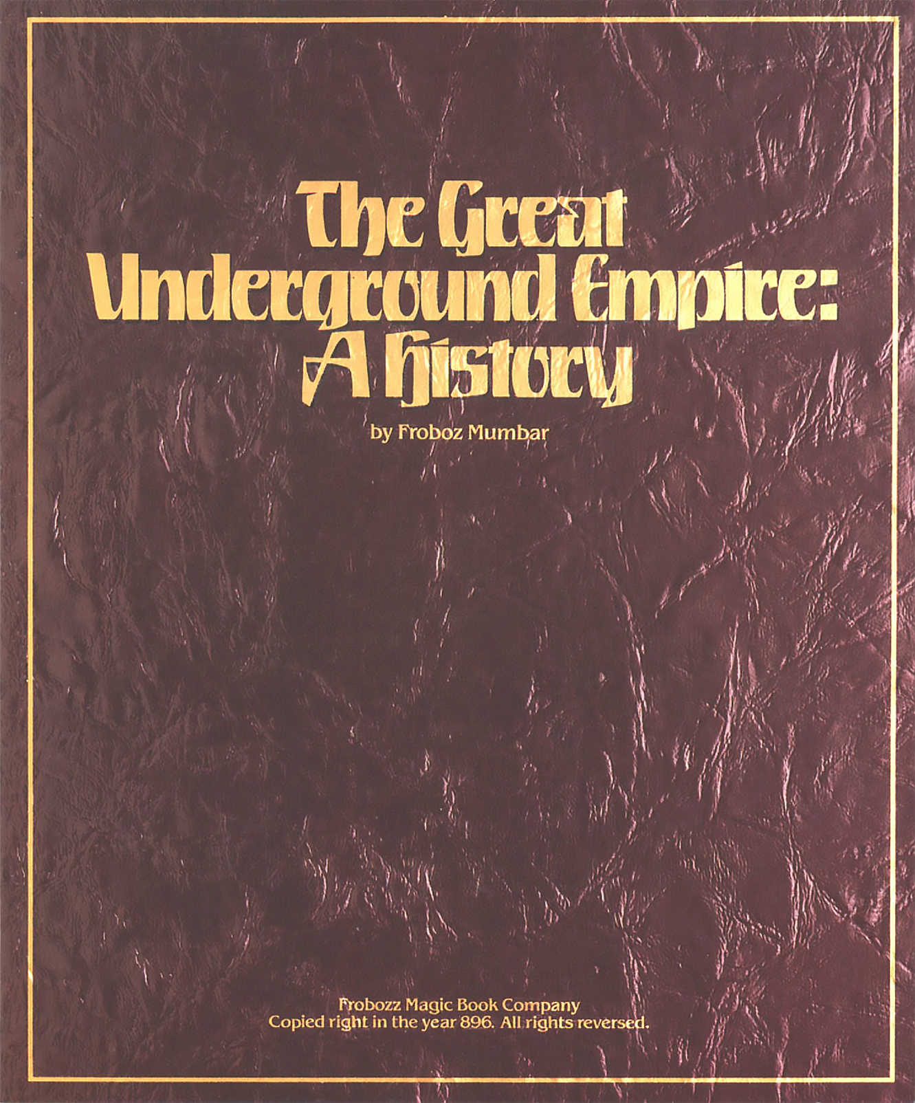 A history book included with Zork I, a computer adventure game by Infocom