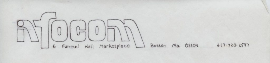 Logo prototype for Infocom, maker of computer text adventures