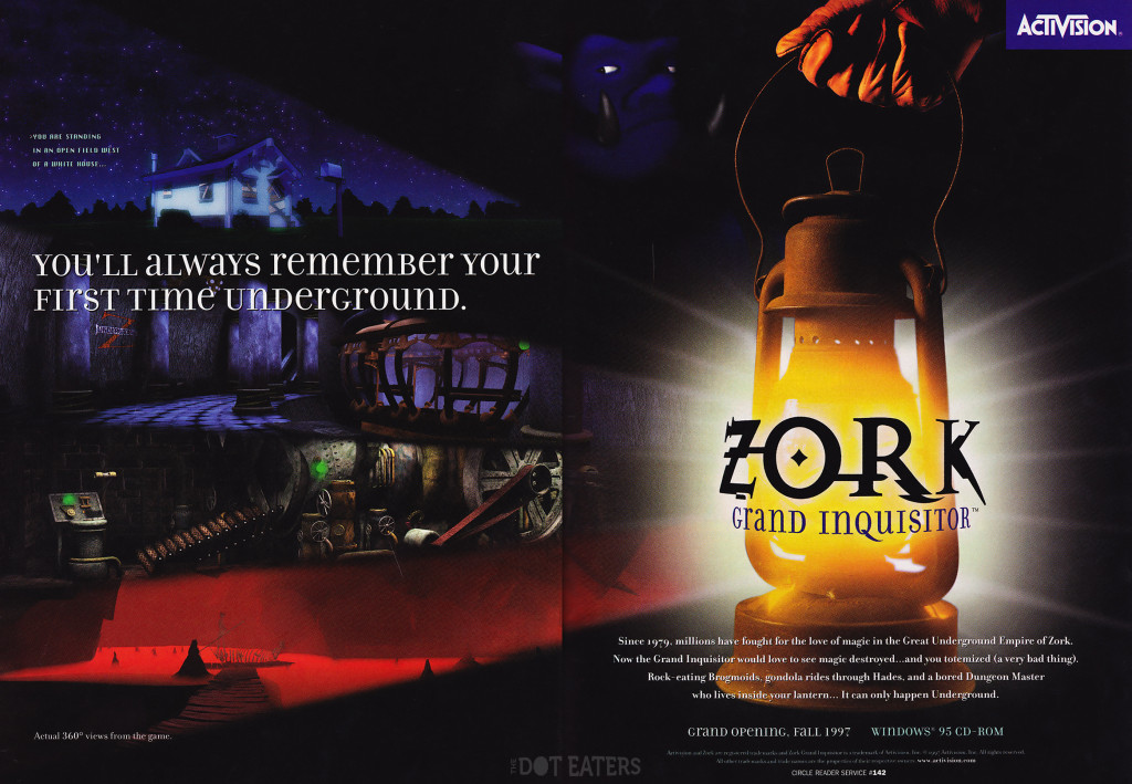 Ad for Zork: Grand Inquisitor, a video game by Activision 1997