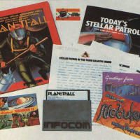Packaging for Planetfall, a computer text adventure game by Steve Meretzky and Infocom, 1983