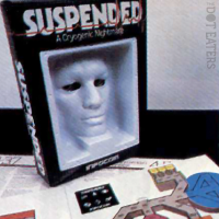 Packaging for Suspended, a text adventure game from Infocom