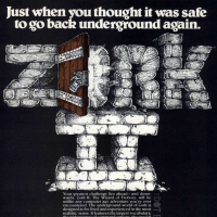 1981 magazine ad for Zork, a computer video game by Infocom