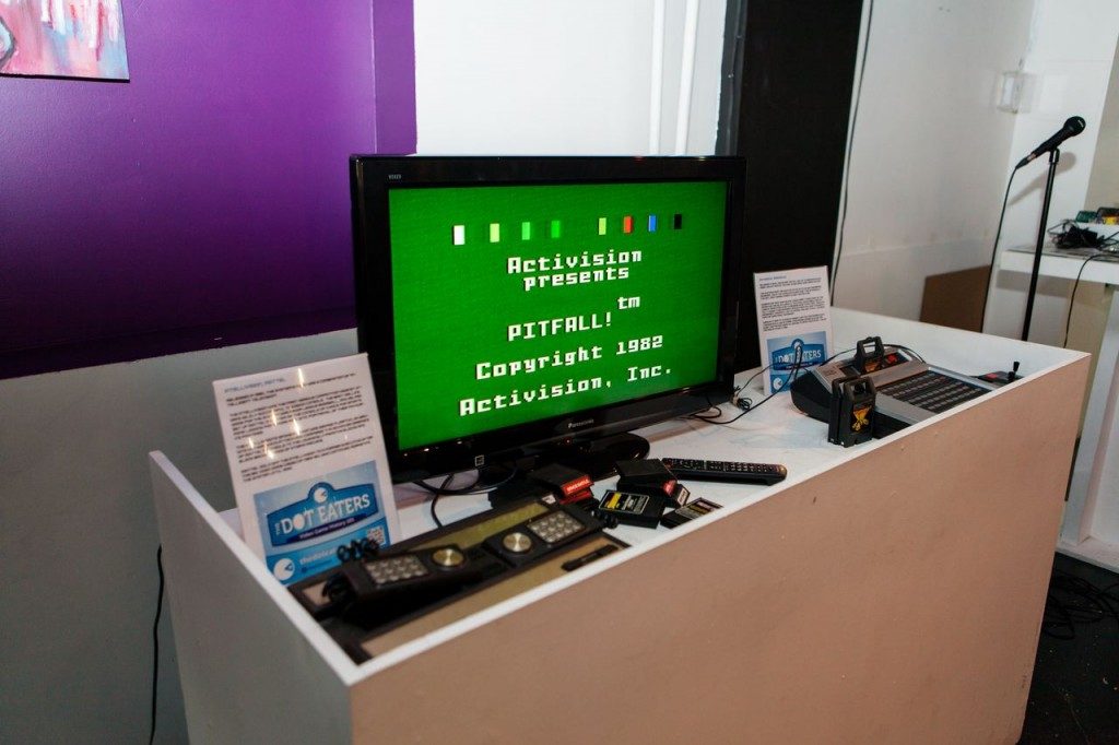 Pitfall running on the Intellivision, a video game console by Mattel