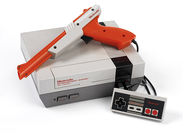 Image of the Nintendo Entertainment System, a video game system by Nintendo 1986