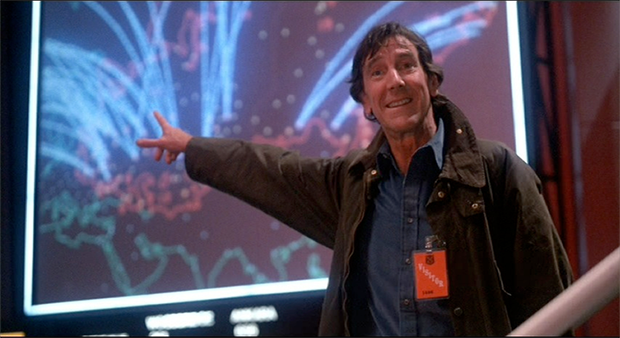 Still from WarGames, a video game themed movie starring John Wood, by MGM/UA 1983