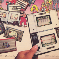 Ad for Nintendo video game tabletop and handheld games, 1983