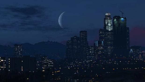 Moon over Los Santos