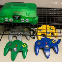 N64 and controllers at the Computer + Video Game Archive 2013