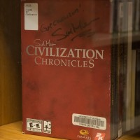 Signed copy of Civilization Chronicles at the Computer + Video Game Archive 2013