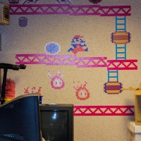 Donkey Kong mural at the Computer + Video Game Archive 2013