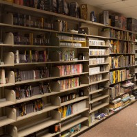 Game shelves at the University of Michigan Computer + Video Game Archive, 2013