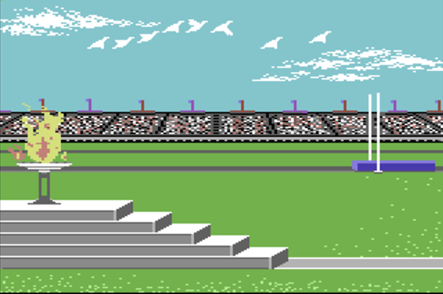 Image from Summer Games, a computer video game by Epyx 1984