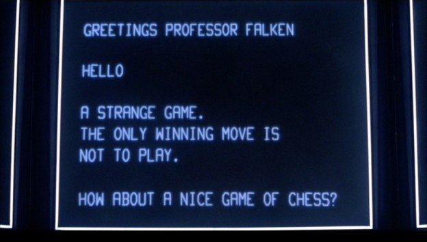 Still from WarGames, a video game themed movie by MGM/UA 1983