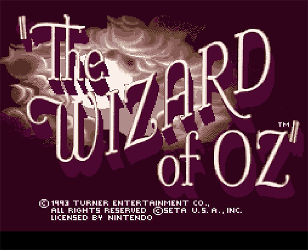 Title screen to The Wizard of Oz, a video game for the SNES 1993