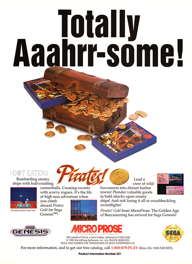 Pirates computer game, by Sid Meier and MicroProse 1993