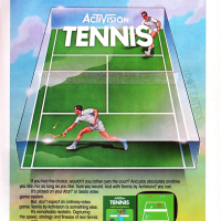 Tennis by Activision, for the Atari VCS 1981