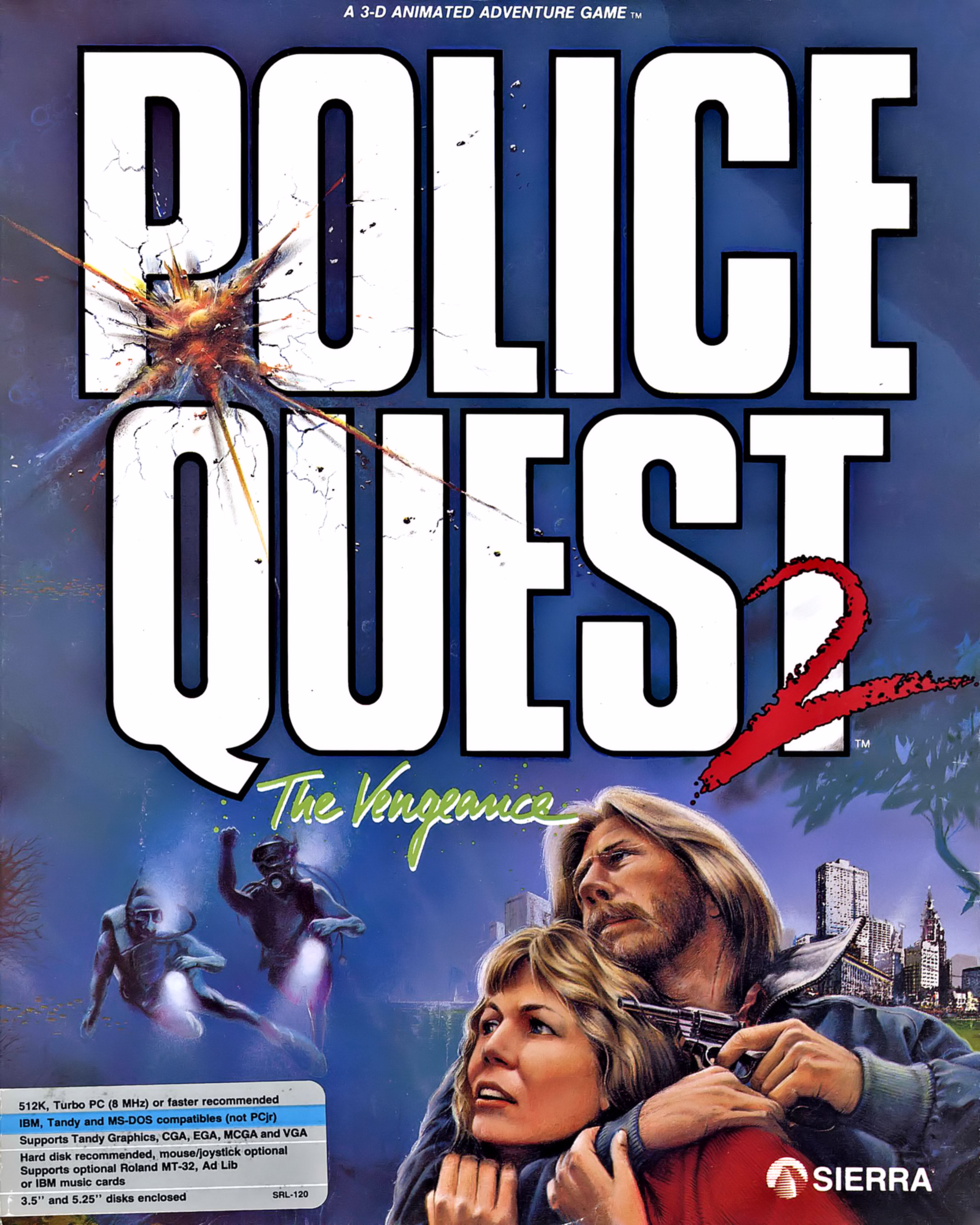 Police Quest 2, a Sierra computer adventure game