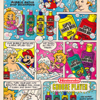 Shampoo branded by Nintendo, a home video game company